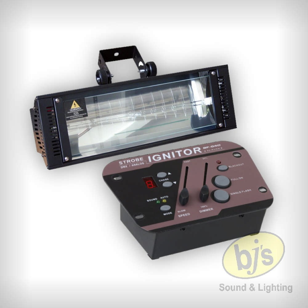 1500 Watt DMX or Sound Active Strobe & Controller 1