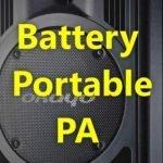 Battery & Portable PA