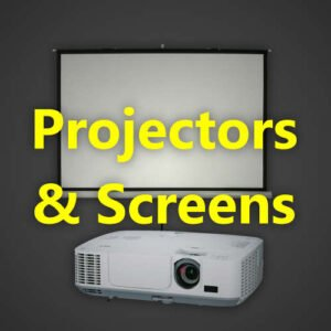 BJs Sound & Lighting Hire - Projectors Screens 500px