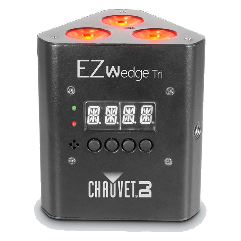 Chauvet Battery Powered EZWedge Tri RGB LED Up Light 1