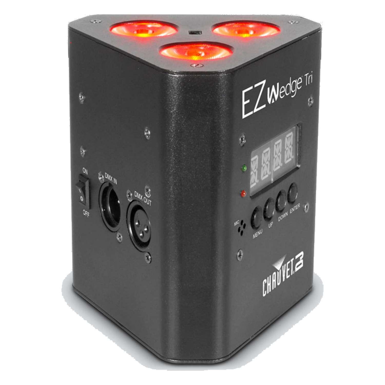 Chauvet Battery Powered EZWedge Tri RGB LED Up Light 2