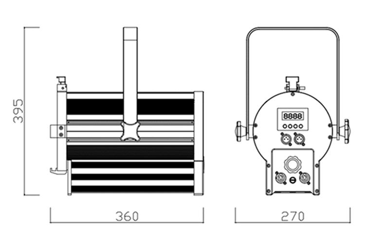 BJs Sound & Lighting Hire - F100.200WWMZ Line Drawing