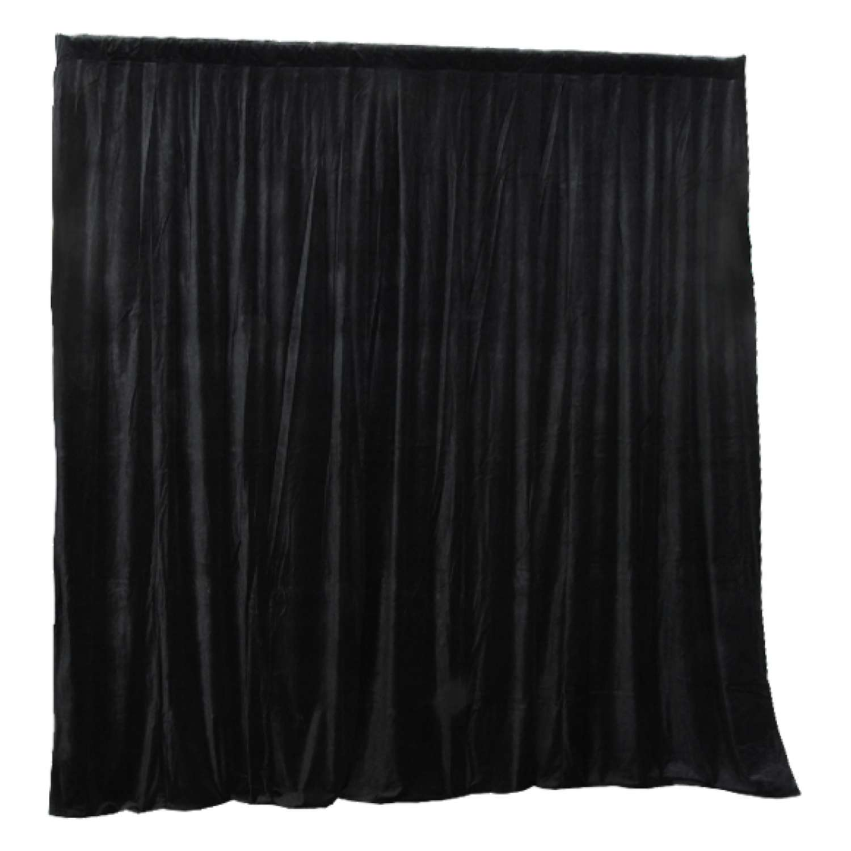 Curtain Call 3.1m x 3m Black Stage Drape - Velvet 1