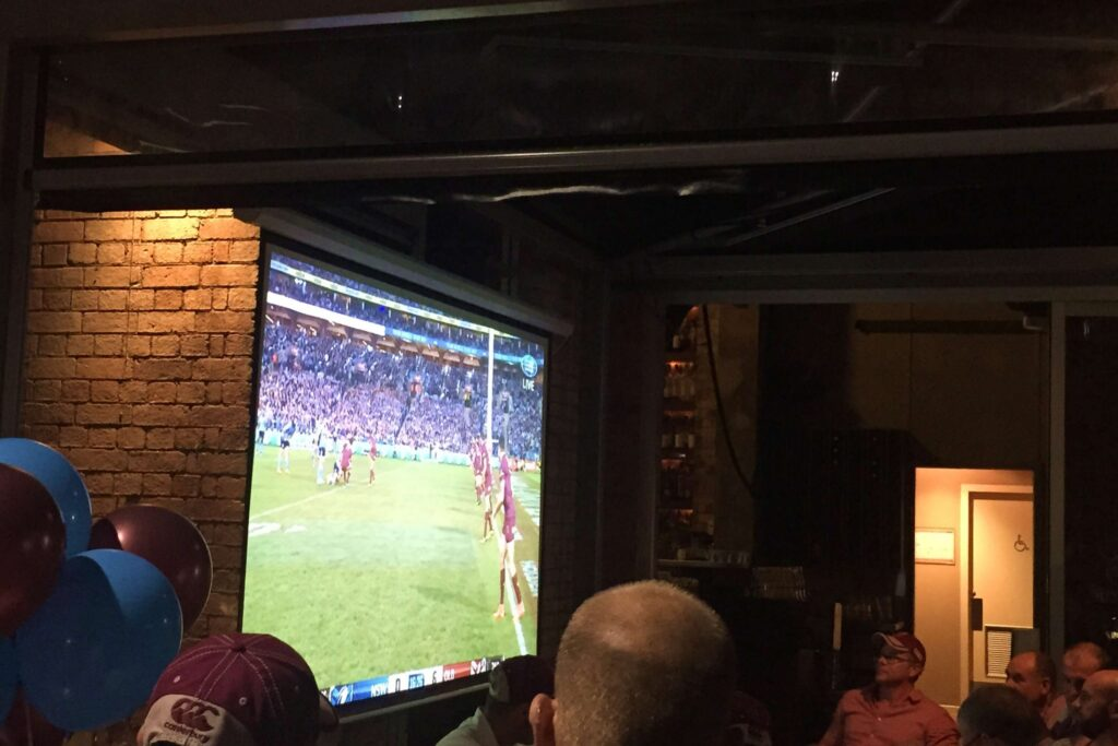 State of Origin Projector Screen