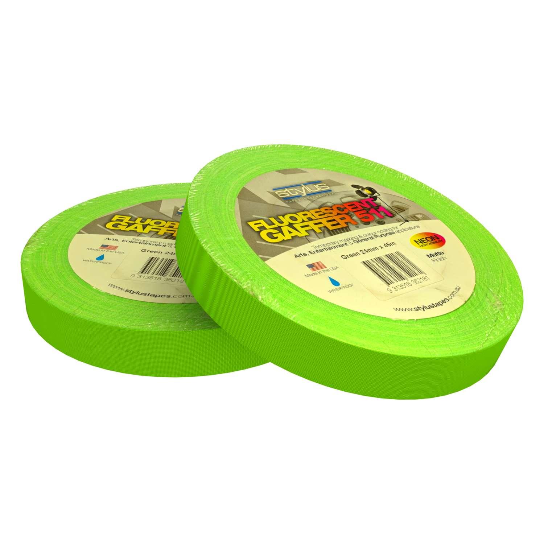 Neon Gaff Tape 511 24mm x 45m GREEN 3
