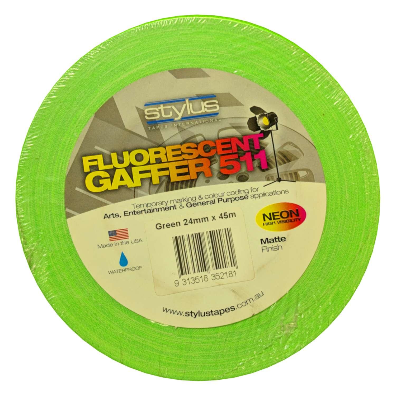 Neon Gaff Tape 511 24mm x 45m GREEN 2