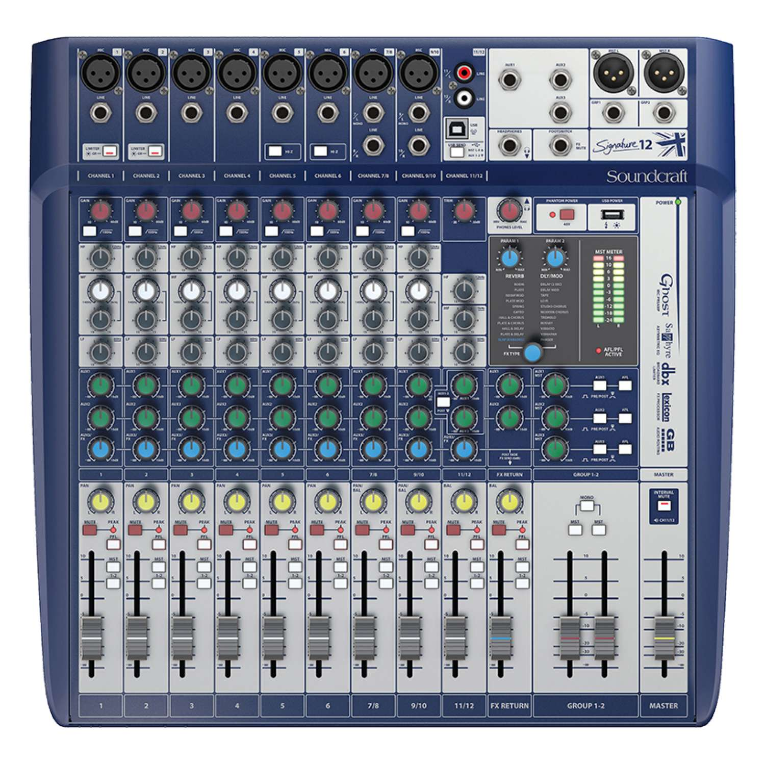 Soundcraft Signature 12 Ch Mixer With Usb And Fx 1