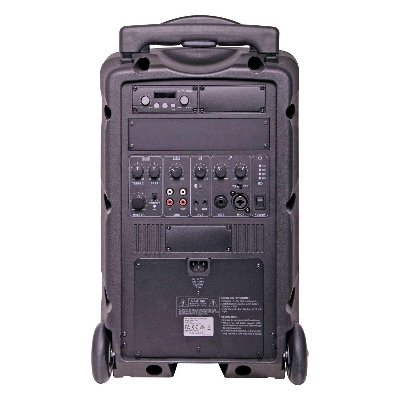 Okayo C7202C Portable PA 120w with Dual 520mHz UHF Receiver & Bluetooth 2