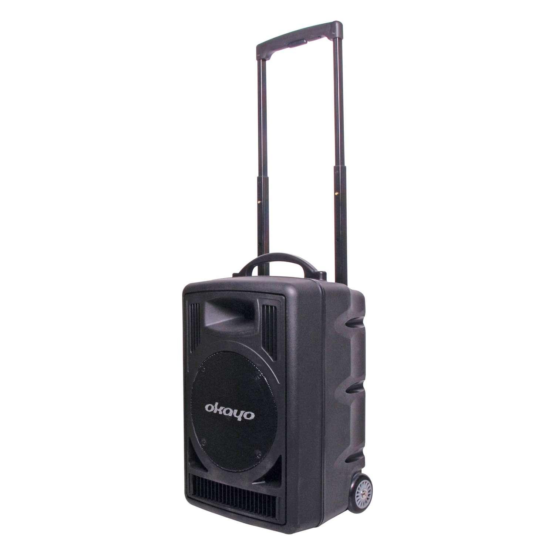 Okayo C7202C Portable PA 120w with Dual 520mHz UHF Receiver & Bluetooth 3