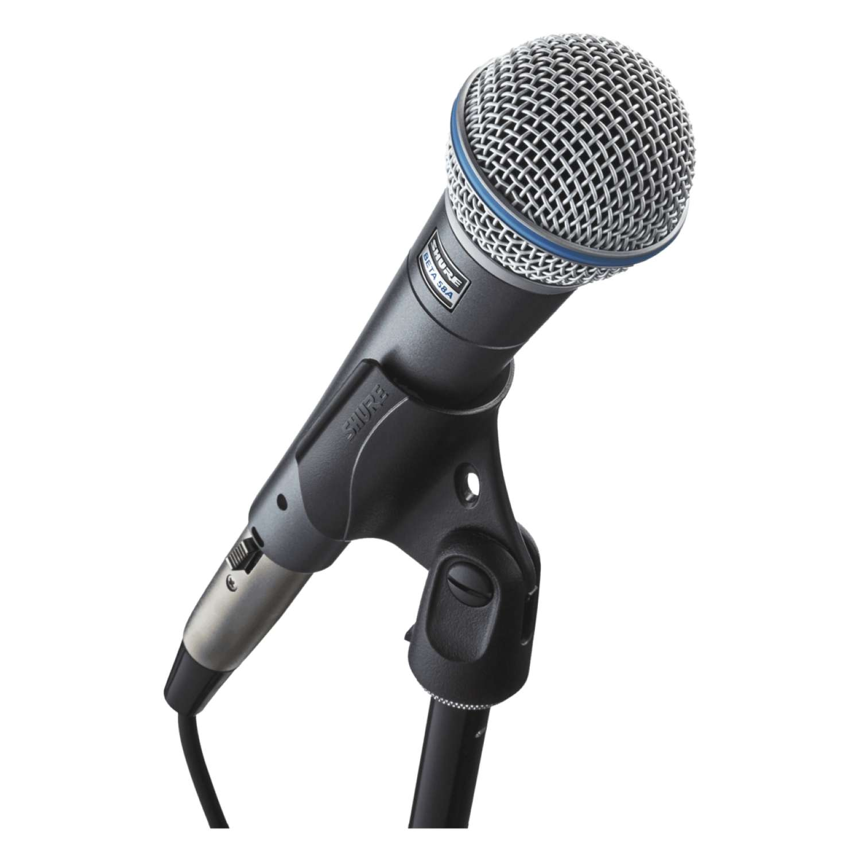 BJs Sound & Lighting - Beta 58A on stand bjs web