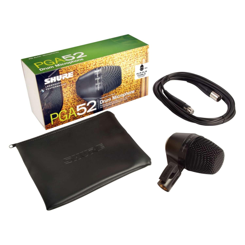 Shure PGA52XLR Instrument Cardioid Dynamic Microphone with XLR-XLR Cable 2