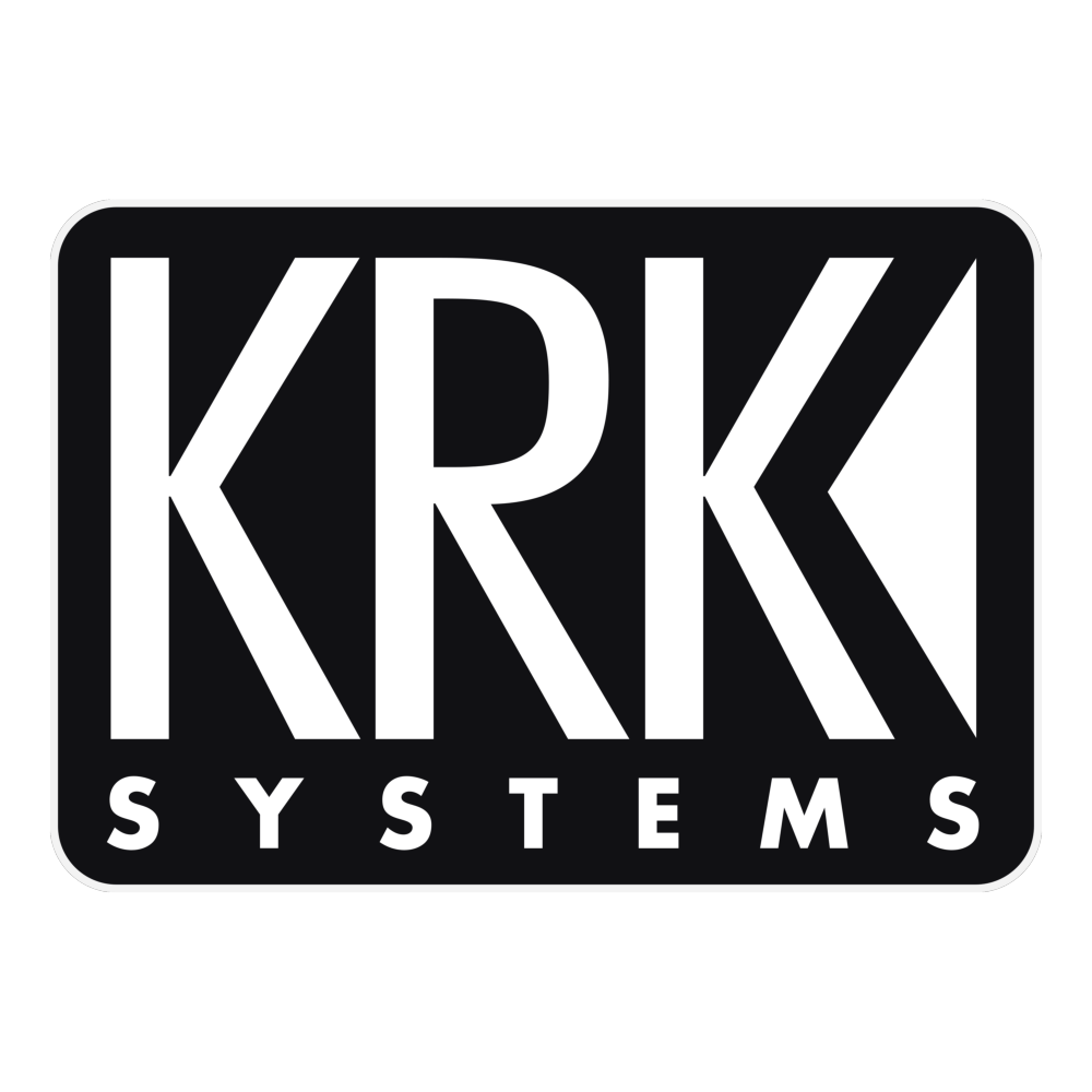 BJs Sound & Lighting - Brand KRK Logo BW Dark BG Logo Square