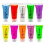 BJs Sound & Lighting - 20ml 10 colours uv glow face body paint bjs web